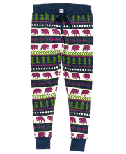 Load image into Gallery viewer, Bear Fair Isle - Womens PJ Leggings