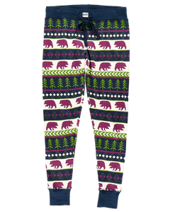 Bear Fair Isle - Womens PJ Leggings