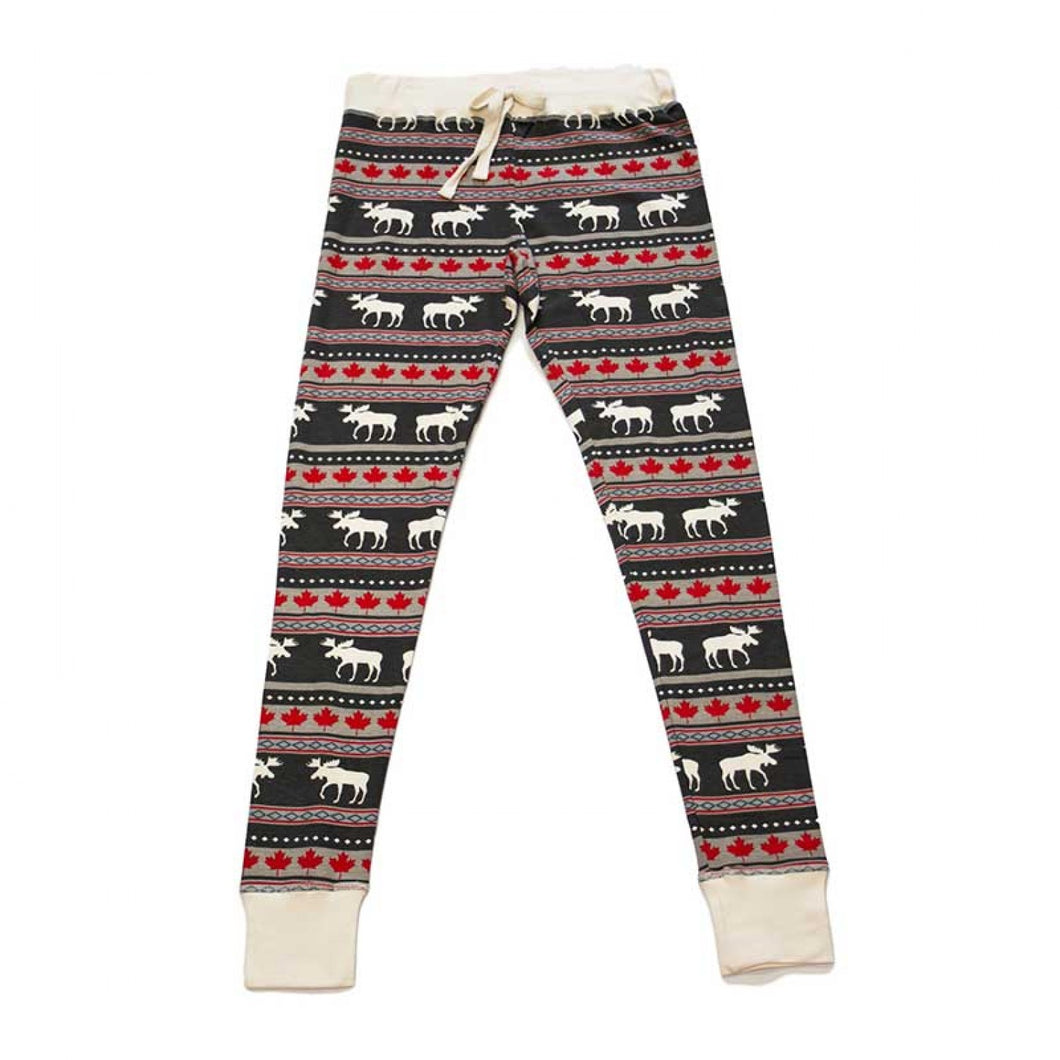 Moose Fair Maple - Womens PJ Leggings
