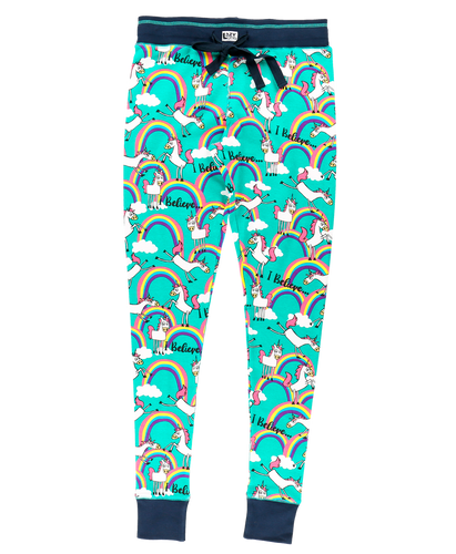 I Believe Unicorn - Womens PJ Leggings