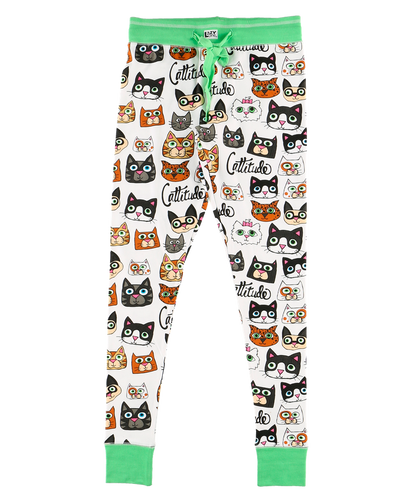 Cattitude - Womens PJ Leggings