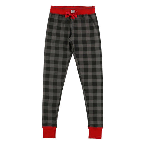 Lost In My Dreams Grey Plaid - Womens PJ Leggings