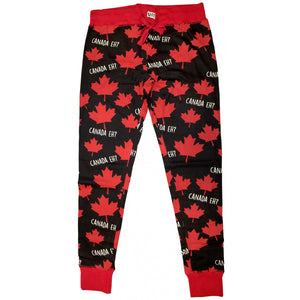 Canada Eh (Black) - Womens PJ Leggings