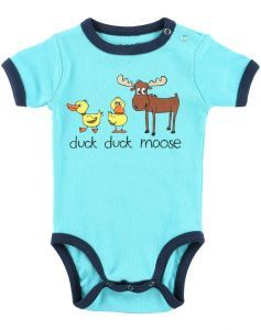 Duck Duck Moose (Blue) - Infant Creeper