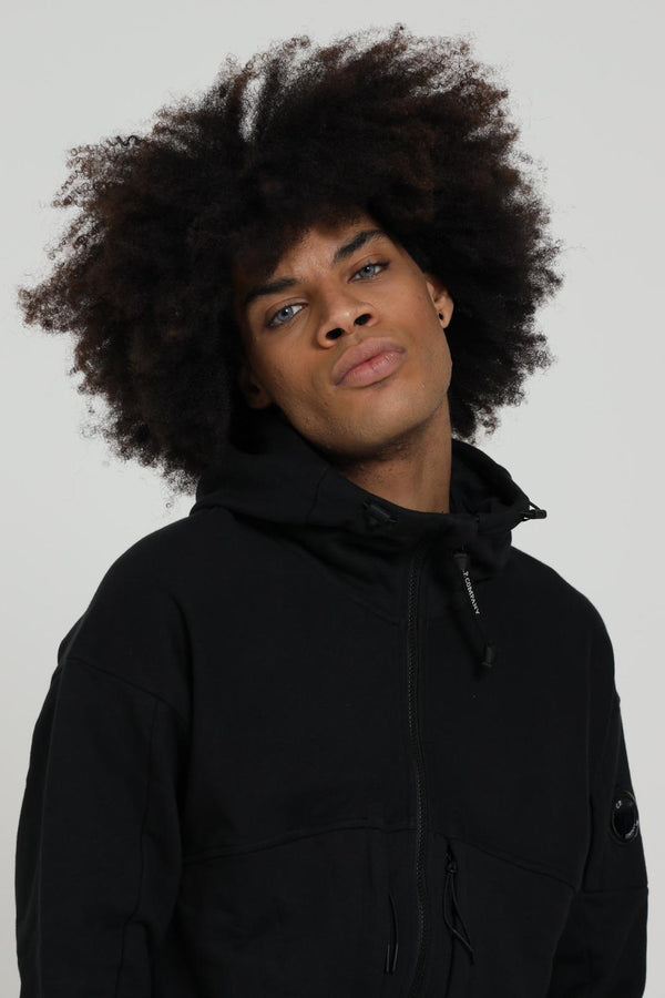 DIAGONAL RAISED FLEECE HOODIE