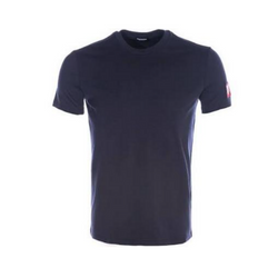 NAVY TEE WITH RED BOX