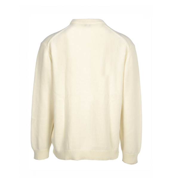EMBROIDERED WOOLLEN SWEATSHIRT