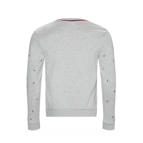 Scattered logo embroidery SWEATSHIRT