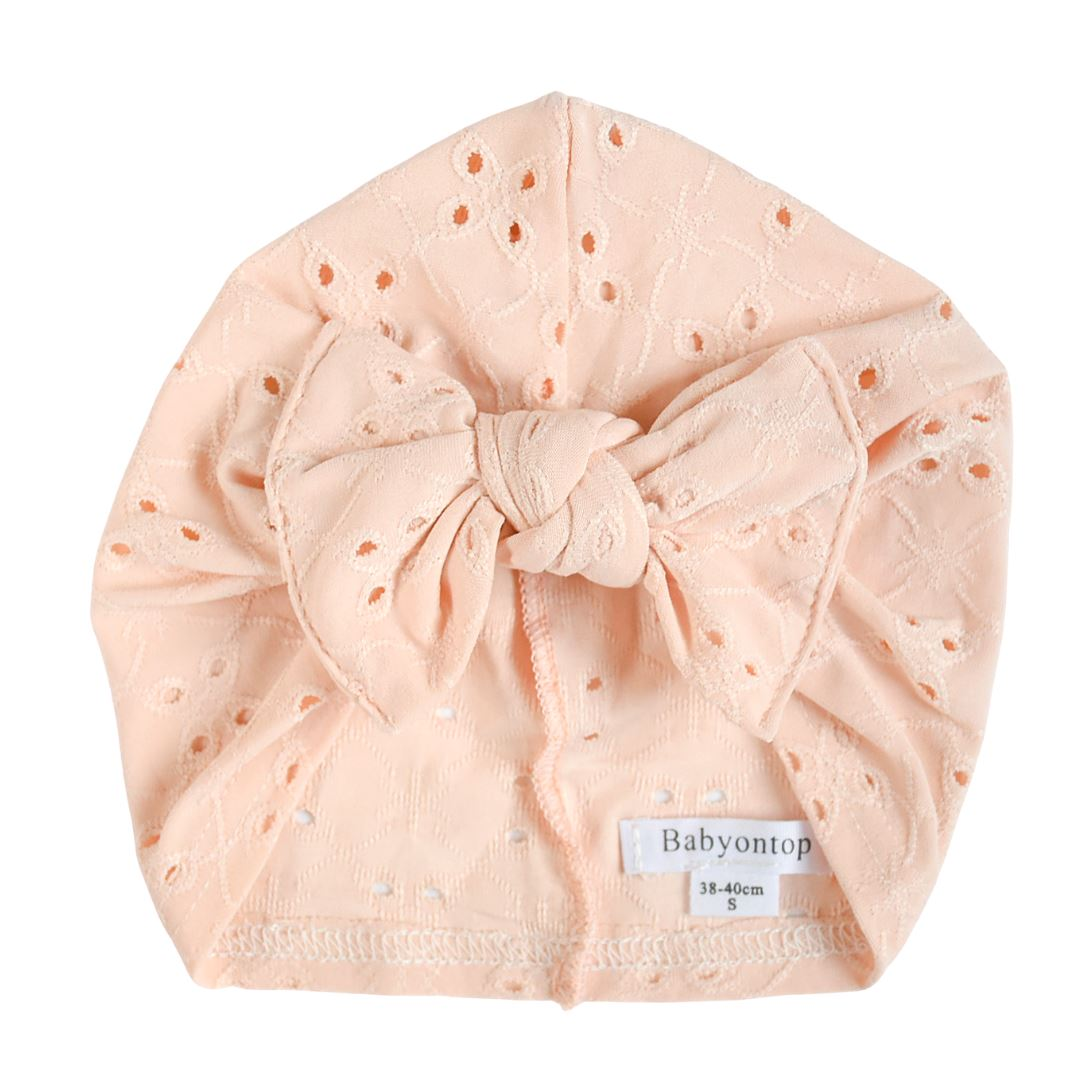 Turban MARY - Nude Lace Rosé Birth Band Adult Hat Chemo
