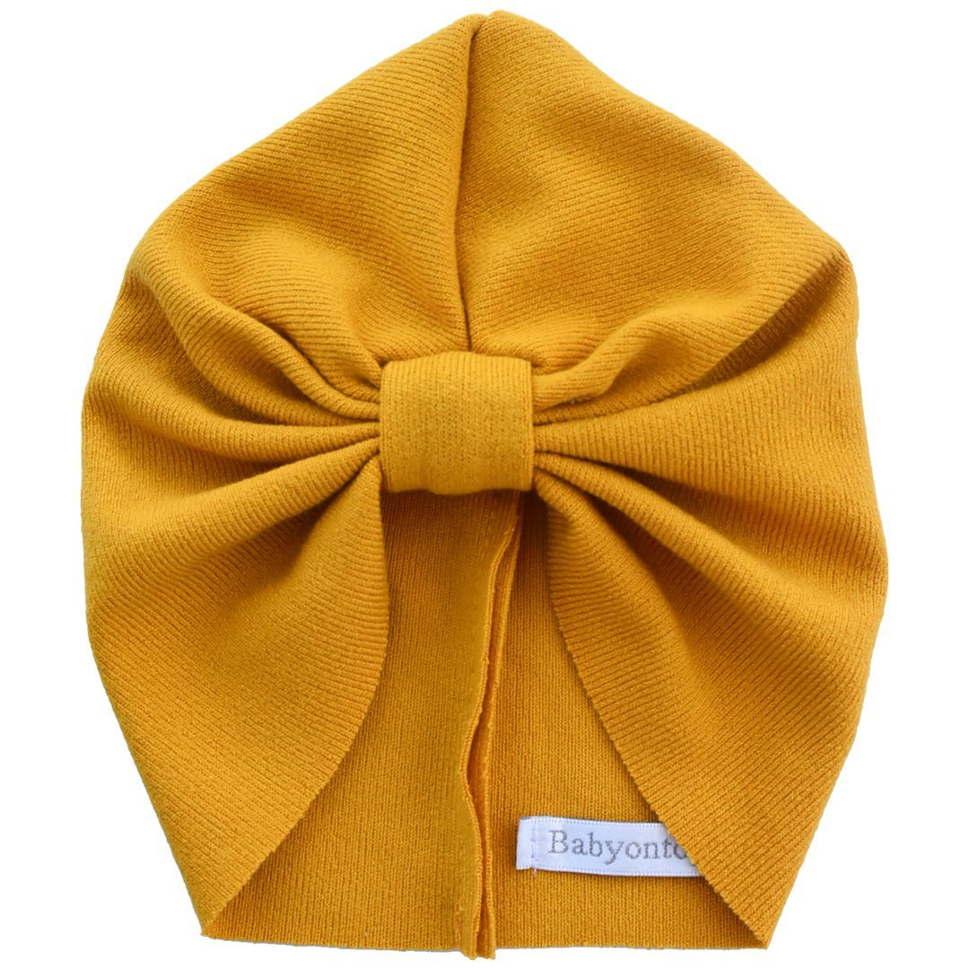 Turban IMANI- Mustard Birth Band Adult hat Chemo
