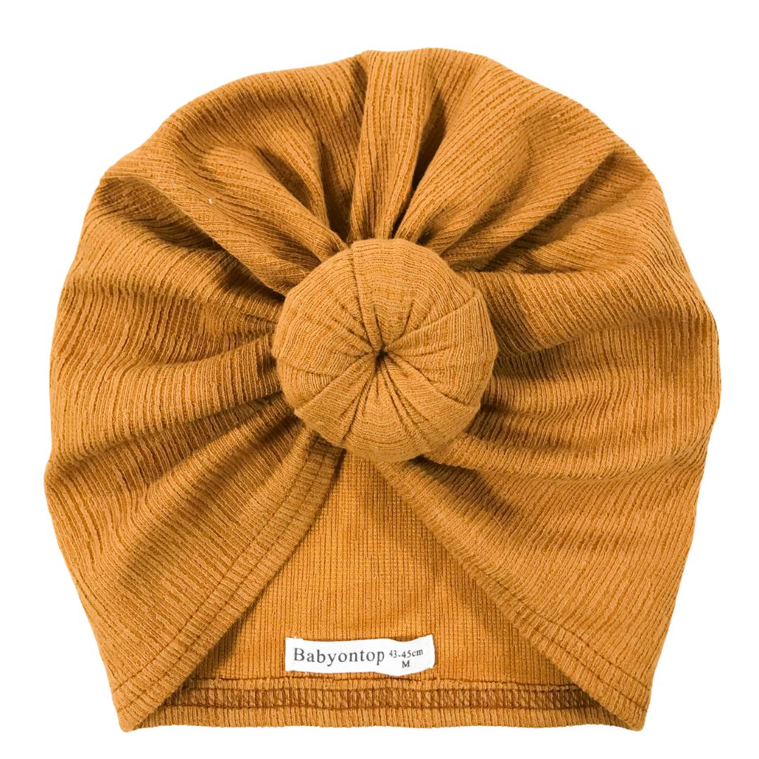 Tulband CHLOE - Camel Birth Band Adult Hat Chemo