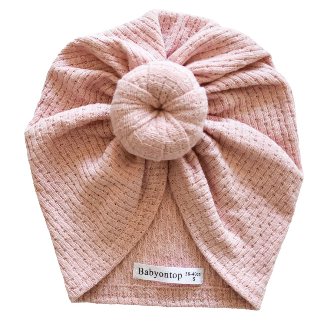 Turban ROMY - Pink mesh Birth band Adult hat Chimio