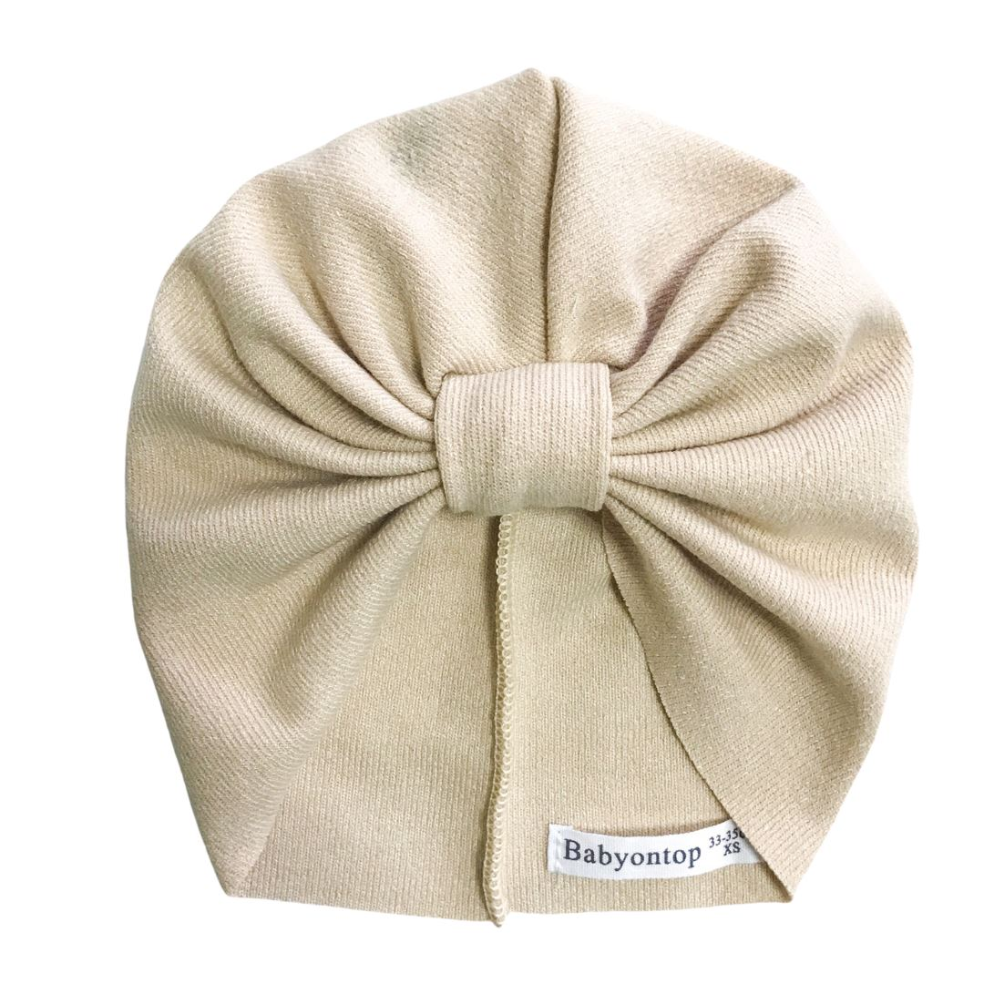 Turban IMANI - Beige Birth Band Adult Hat Chemo