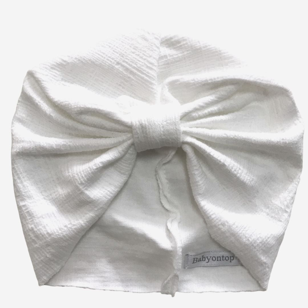 CHLOE newborn turban hat - White Newborn headband Adult headband Chemo cap