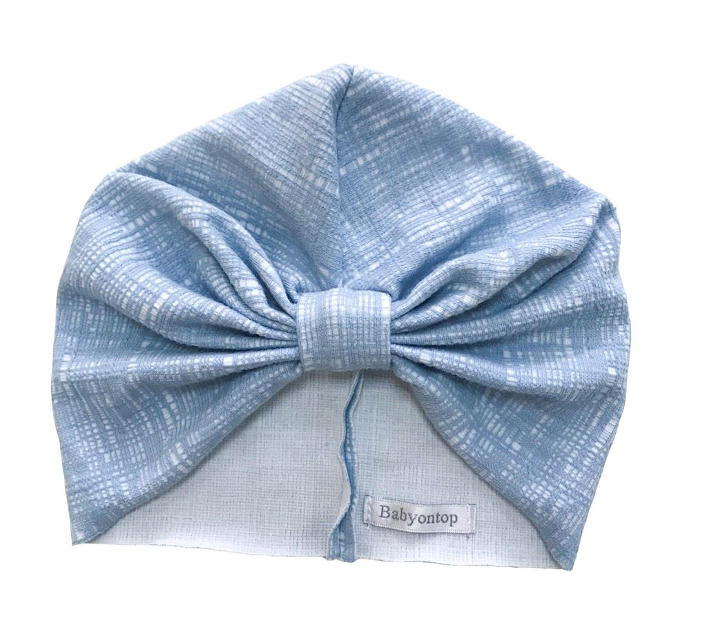 Turban CHLOE - Blue Sky Birth Band Adult Hat Chemo