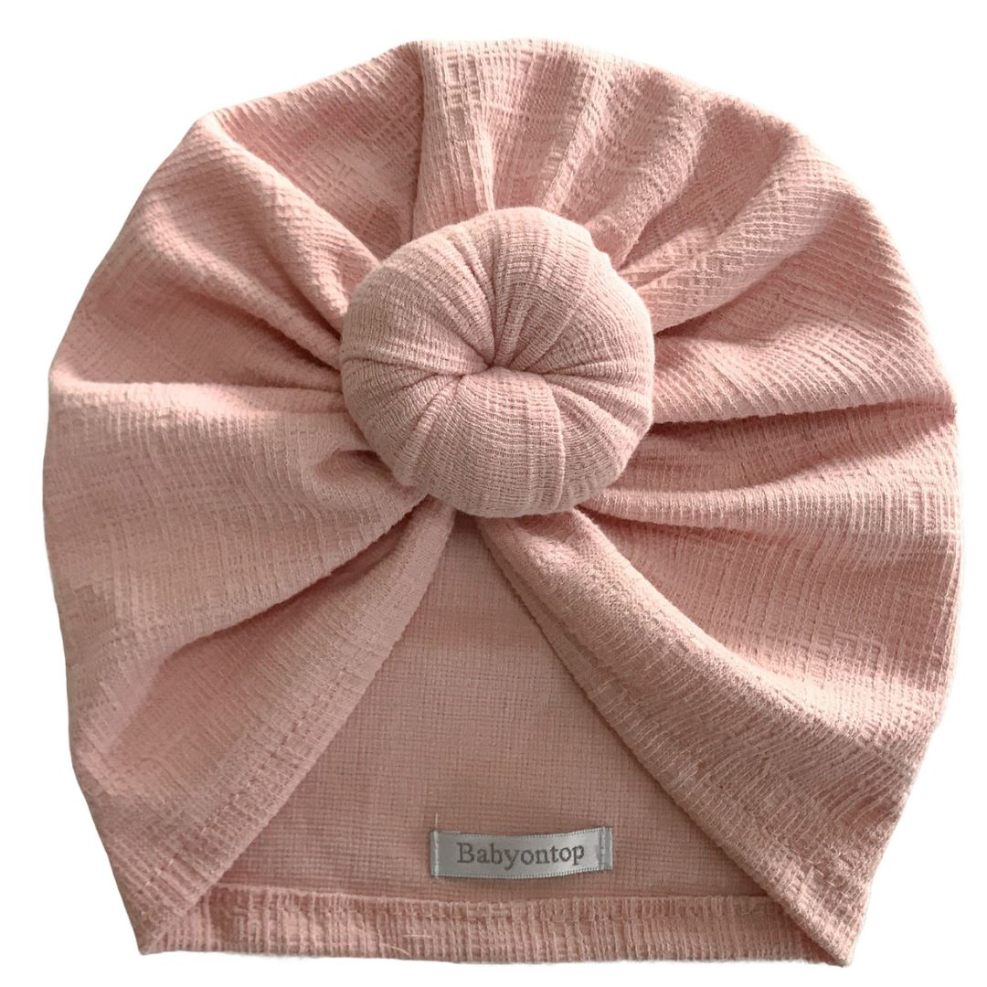 Headwrap CHLOE Birth Cap - Rose Flamingo Birth Band Adult Hat Chemo