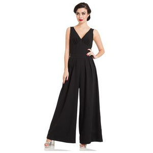Farah - Flared Jumpsuit-Black