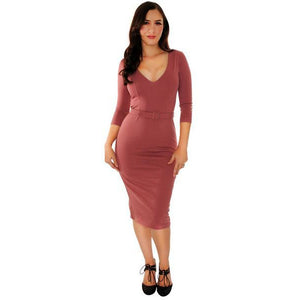 Starlet Dress in Mauve