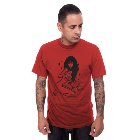 Double Down Mens Tee-Red