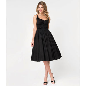 Micheline Pitt Black Cotton Alice Swing Dress