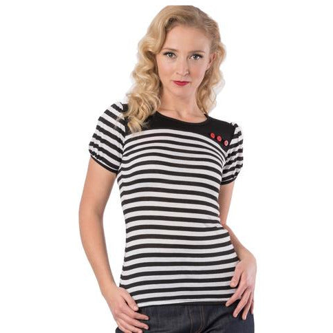 Classic Striped Top-Black and White