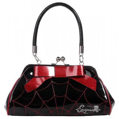 Floozy Spiderweb Purse. Red