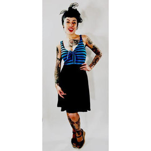 Blue Striped Betty Tie Dress