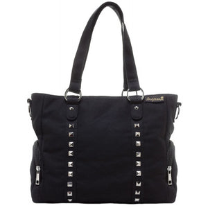 Leda Canvas Stud Bag Black.