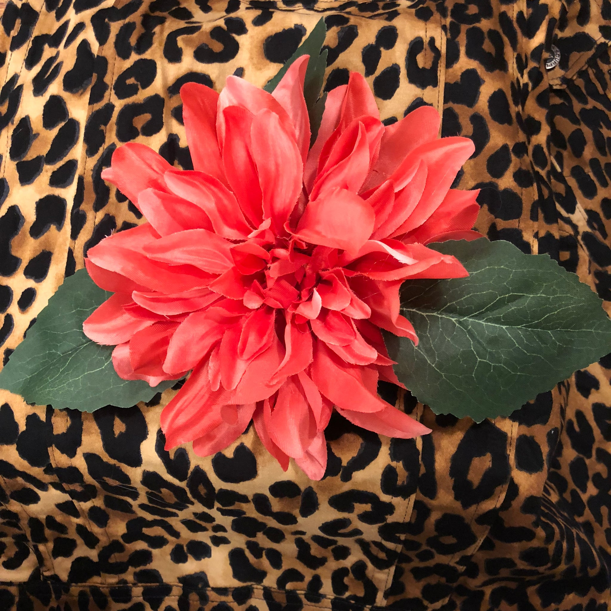 Handmade Hair Flower-Large Tropicle Coral