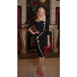 Spotlight Pencil Dress Black