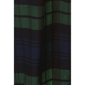 Buttery Soft Green Plaid Maxi Skirt