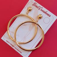 Wanda XL hoop earrings Silver
