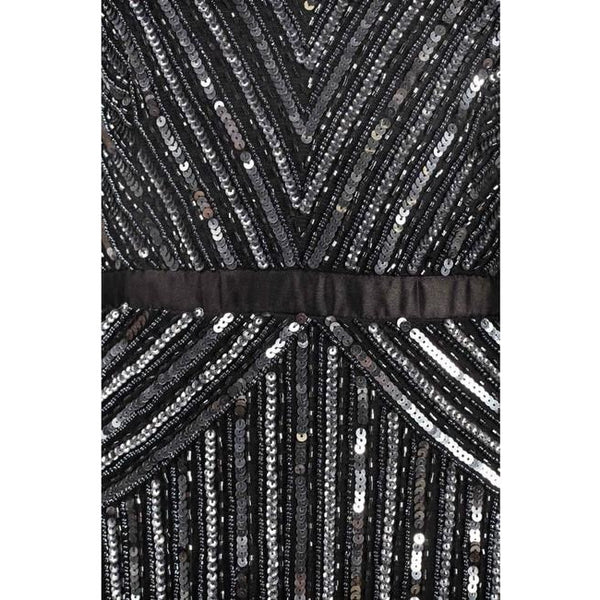 Adrianna Papell black beaded gown Size 12