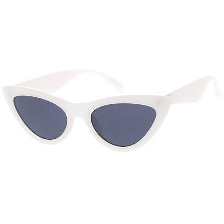 Medium Cateye Sunglasses in White, Ruby, Gold, Black