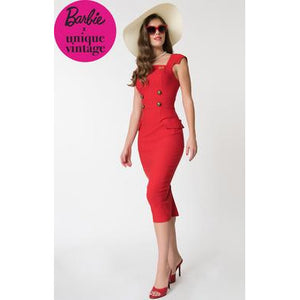 Barbie x  Red Sheath Sensation Wiggle Dress