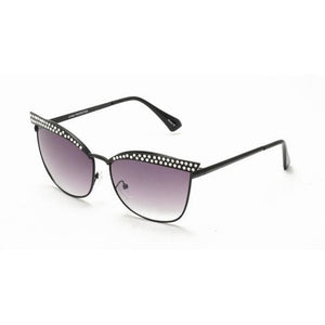 Metal-Cateye Rhinestone  Sunglasses