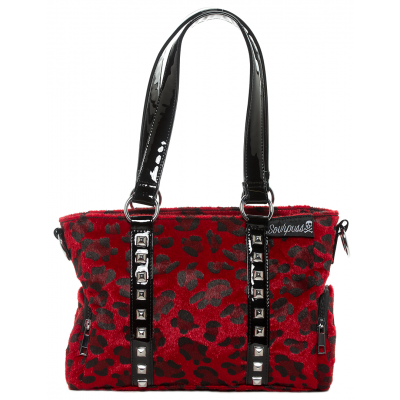 Mini Leda Stud Purse-Red