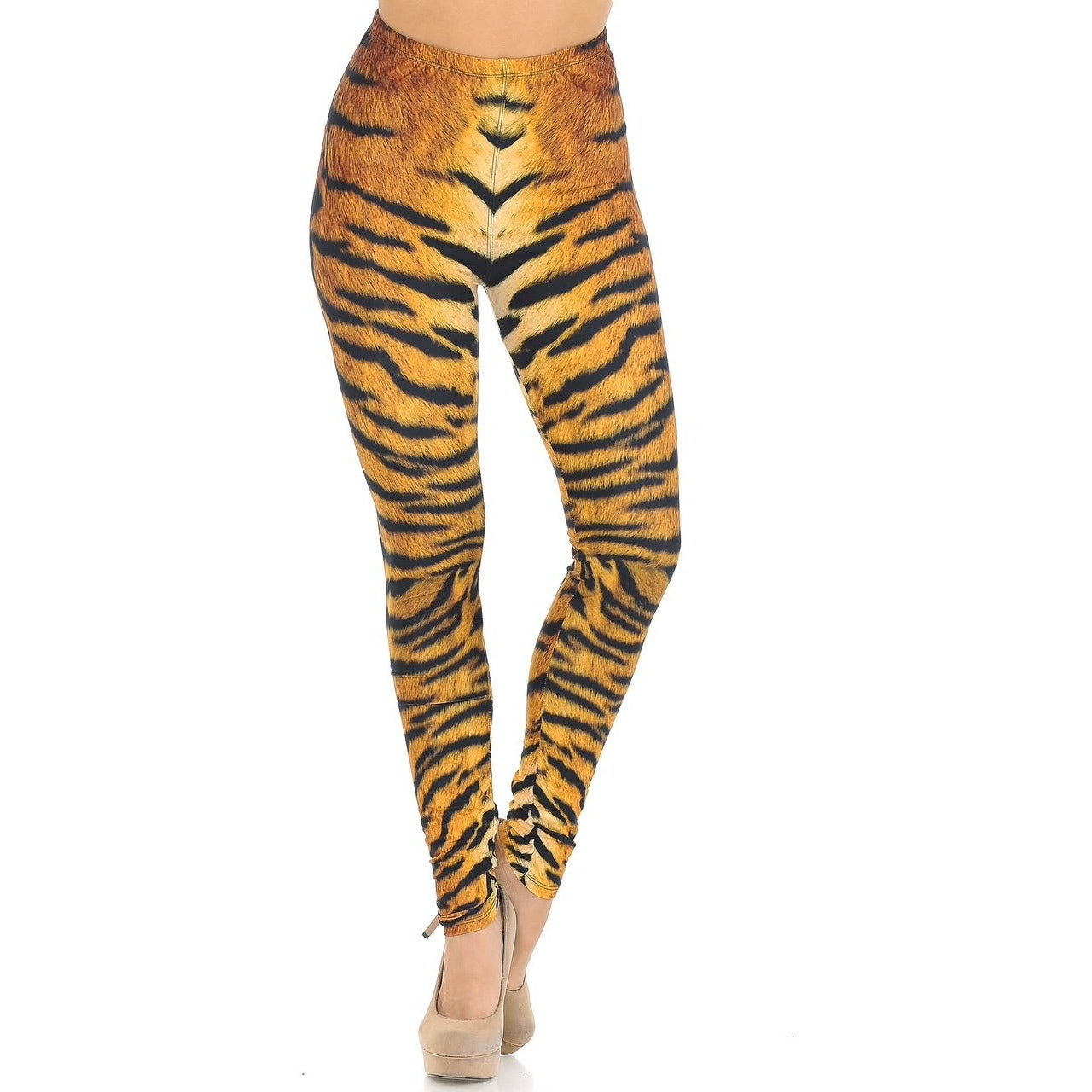 Tiger Print Leggings-One Size