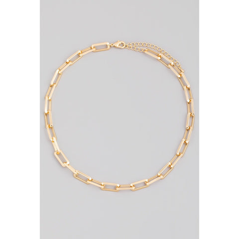 Rectangle Cable Chain Link Necklace