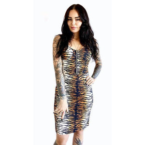 Tiger Studded Bra Dress