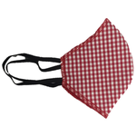 Face mask red gingham