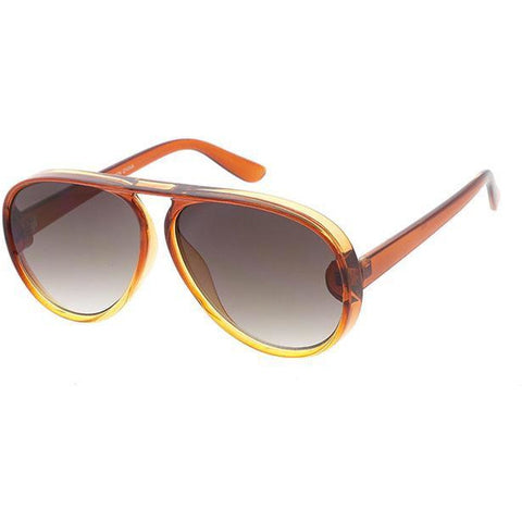 Unisex Plastic Large Aviator Crystal Ombre Frame multiple colors