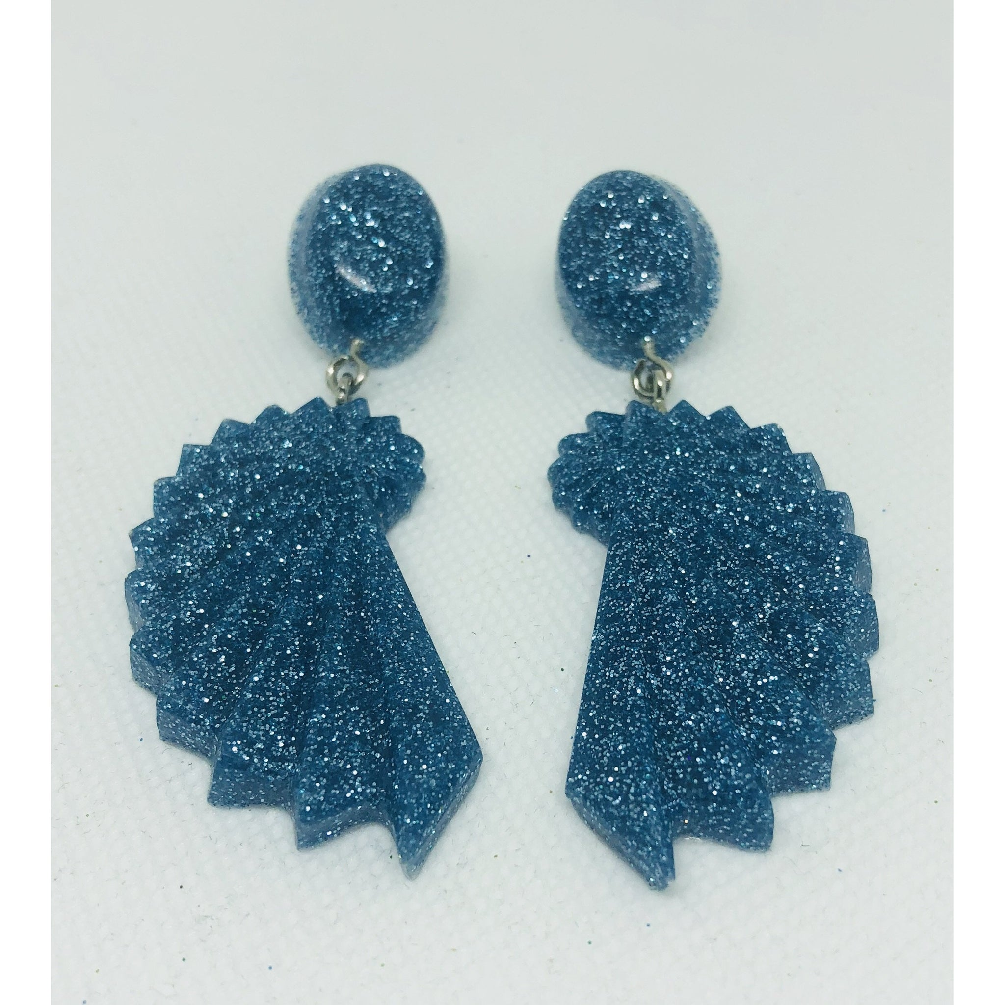 Blue Sparkle dangle earrings