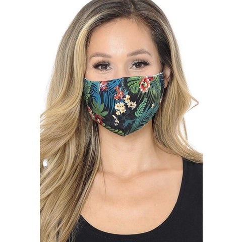 Tropical Floral Face Mask