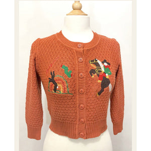 HEAD WEST! CARDIGAN IN DUSTY ORANGE