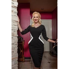 NOCTURNE 3/4 SLEEVE PENCIL DRESS