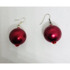 Red hot and festive earrings