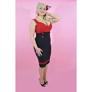 Set Sail Diva Dress Red and Black