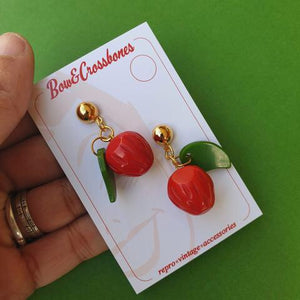 Fruitini Strawberry drop stud earrings