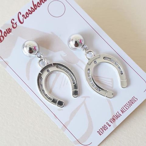 Howdy Partner Horseshoe Stud Earrings